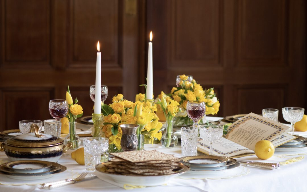 Seder Table in the While Salon of Villa Seligmann © Claiborne and I